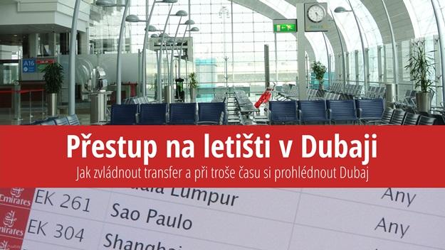 Přestup na letišti v Dubaji
